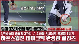골프구력 4년이상 골퍼들도 주목하세요! | 백스윙 하프스윙전 테이크백의 완성과 릴리즈 [초보 골프레슨] mongu golf
