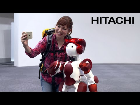 "Humanoid Robot ""EMIEW3"" and Robotics IT Platform for Customer Services - Hitachi"
