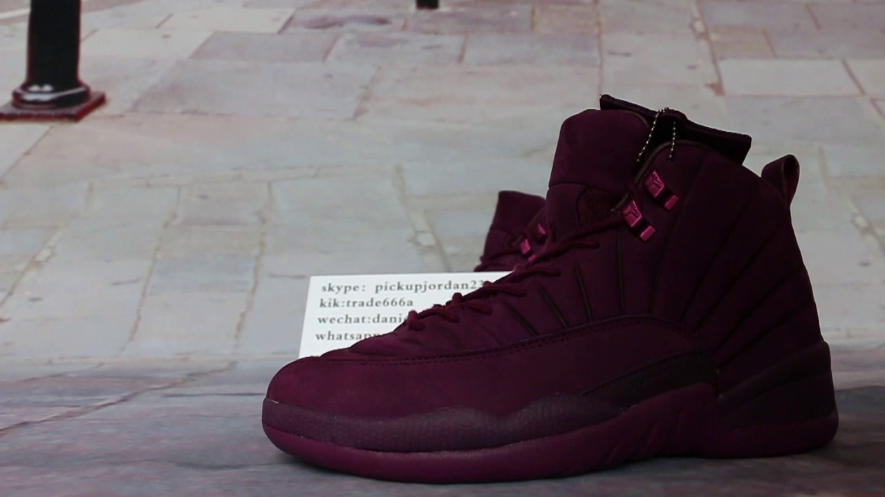 ff3e87220f19 PSNY x Air Jordan 12 Burgundy HD Review .