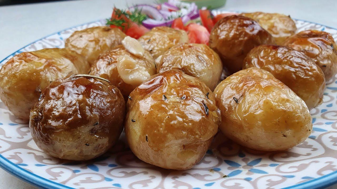 Ofenkartoffelrezept mit goldener Kruste. Schnell lecker rezept kartoffel.