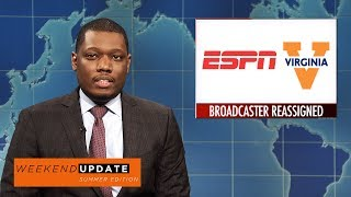 Weekend Update on ESPN Sidelining Robert Lee - SNL