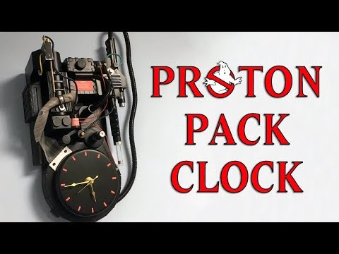 Making A Ghostbusters Proton Pack Wall Clock - Timelapse