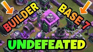 UNDEFEATED BUILDER BASE 7 LAYOUT WITH REPLAY   BEST BUILDER HALL 7 BASE IN COC   CLASH OF CLANS