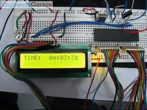 digital clock with rtc ds12c887 \u0026 8051 microcontroller project youtubedigital clock with rtc ds12c887 \u0026 8051 microcontroller project