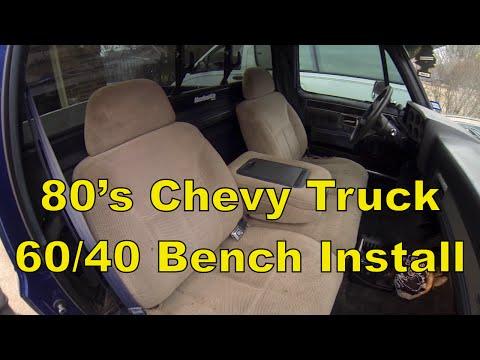C10 Chevy Truck Install a Split 60/40 Bench Seat, 73-87 C10 R10