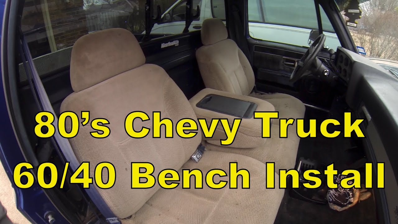 hight resolution of c10 chevy truck install a split 60 40 bench seat 73 87 c10 r10 youtube