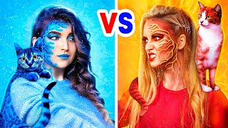 Hot vs Cold Witch / Witch on Fire vs Icy Witch