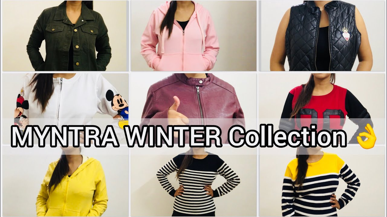[VIDEO] - MYNTRA WINTER COLLECTION ?? | LOOKBOOK | Jackets , Sweatshirts , Sweater | Cherry's world | 1