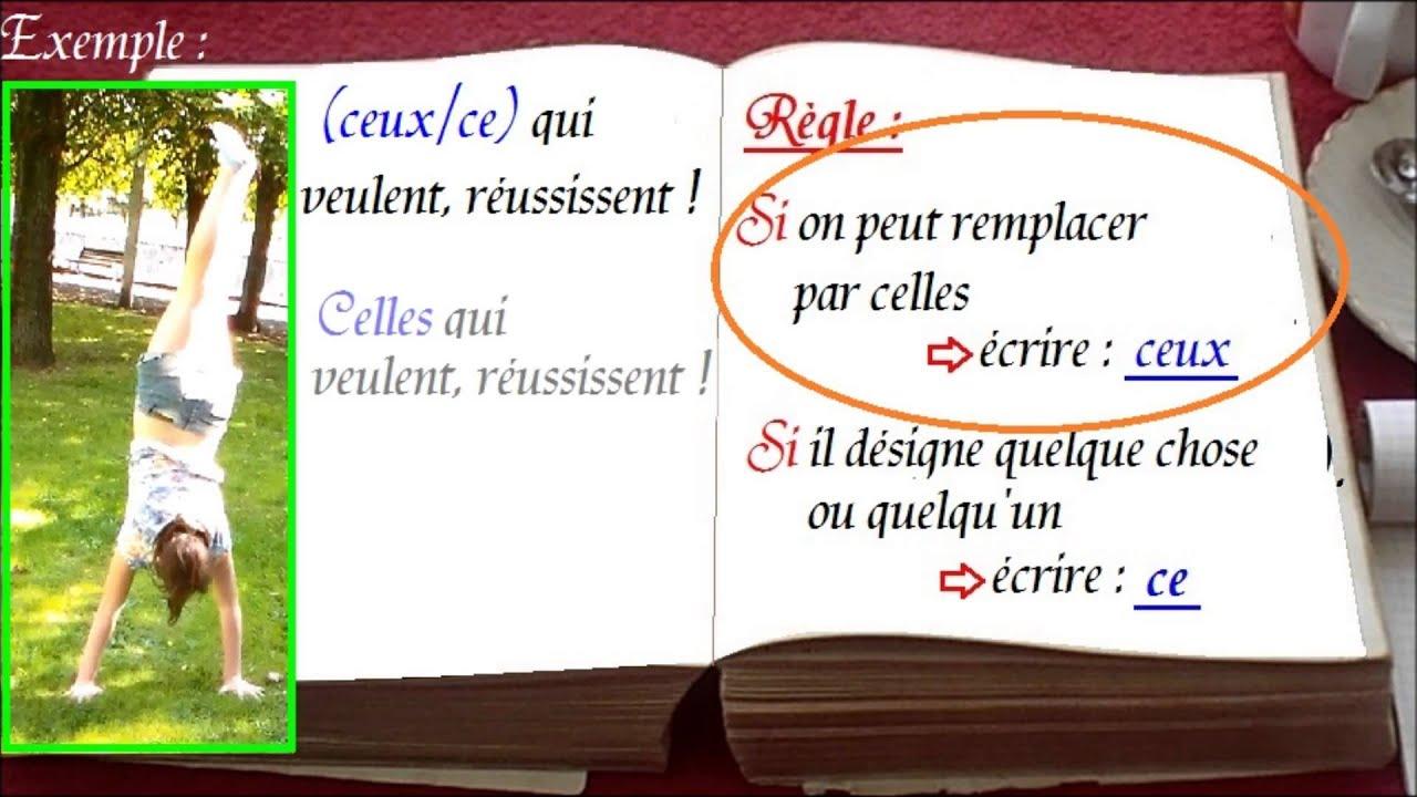 1000 mots en français : ceux ce, une astuce facile par ...