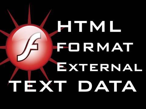 Flash Tutorial Load HTML Format External Text Into Dynamic Text Field CS3 CS4 CS5