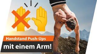 Einarmige Handstand Liegestütze - Ist es möglich?   Andiletics
