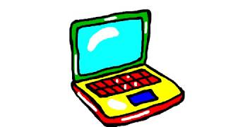 Drawing & Coloring Pages Laptop For Kids, Learning Colors, Раскраска Ноутбука