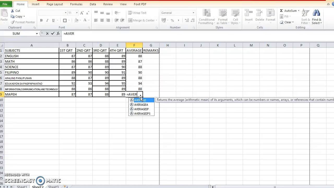 How to make a report card using excel - YouTube
