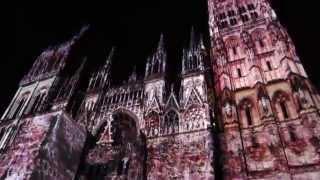 Лазерное шоу, Руан (Illumination of Rouen Cathedral 1)