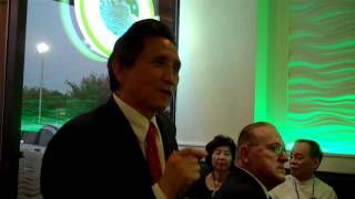 YK Kim at the Financial Power Summit....Introducing Stephen Oliver