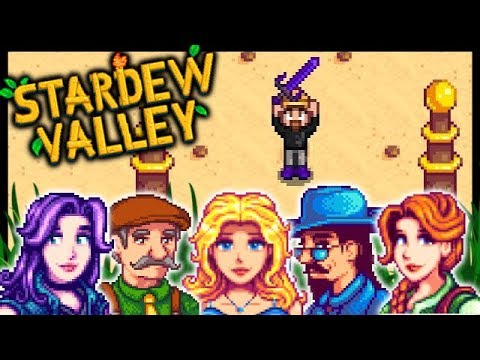 GALAXY SWORD, MILL & MANY 10 HEARTS!! | Stardew Valley Modded #57