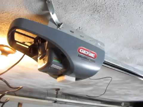 Installing Genie Silent Max 1000 Garage Door Opener Youtube