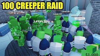 RAIDING Roblox Jailbreak con 100 CREEPERS