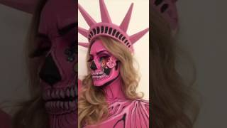 LADY LIBERTY SKULL MAKEUP Check out my Instagram for more details! @the_wigs_and_makeup_manager.