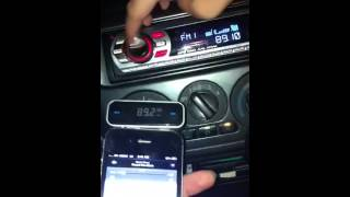 Sleek 3.5mm Car FM transmitter for iPhone iPod Samsung Blackbery and more by Singaporedeals