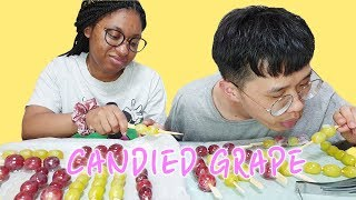 We Try To Make Candied Grape | Tanghulu