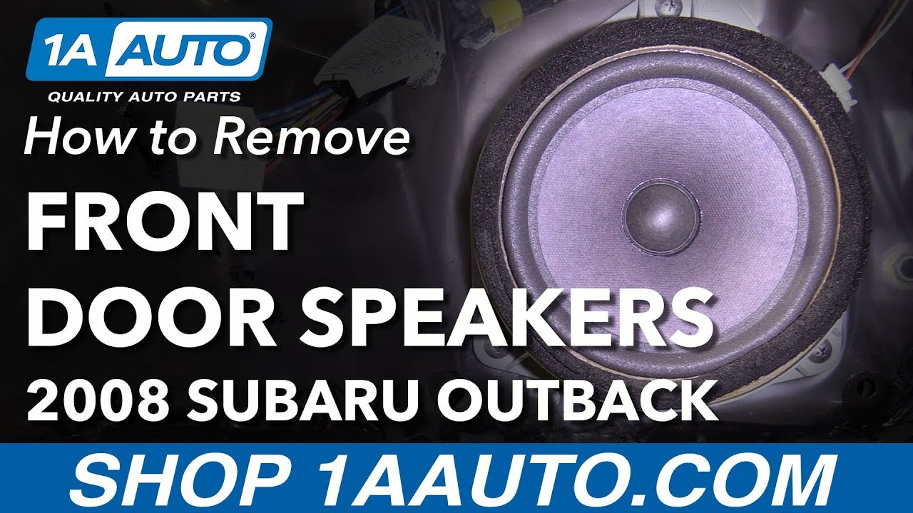 hight resolution of how to replace front door speakers 04 09 subaru outback