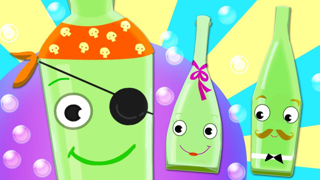 Ten Green Bottles Kids Song With Lyrics 100 Fun Nursery Rhyme
