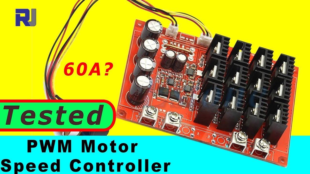 DC 10-50V 60A Motor Speed Control PWM HHO RC Controller 12V 24V 48V 3000W