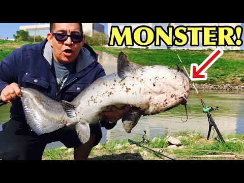 FISHING HOUSTON TX BAYOU CAUGHT MONSTER FISH