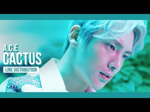 A.C.E - CACTUS (선인장) Line Distribution (Color Coded)