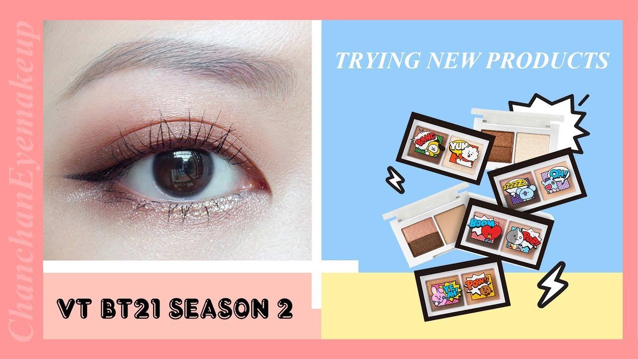 TRYING VT BT21 SEASON 2 | THỬ PHẤN MẮT TỪ NHÀ VT COSMETICS PHẦN 2 |  Chanchan eyemakeup