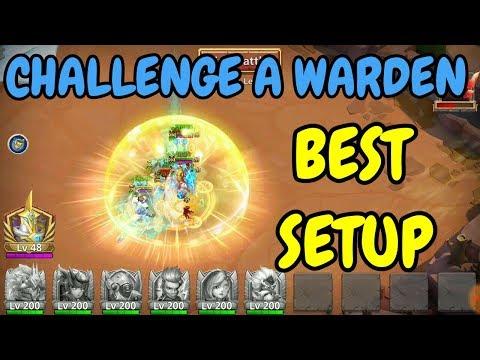 Best Setup For Challenge A Warden L Brawler L Castle Clash