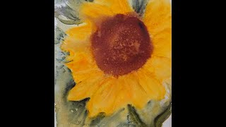 watercolor tips 5 painting a sunflower wet in wet