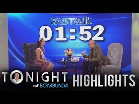 TWBA: Fast Talk with Catriona Gray