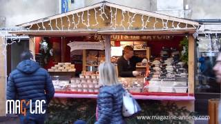 Marché Noël - Village des alpes Annecy, teasing MAG