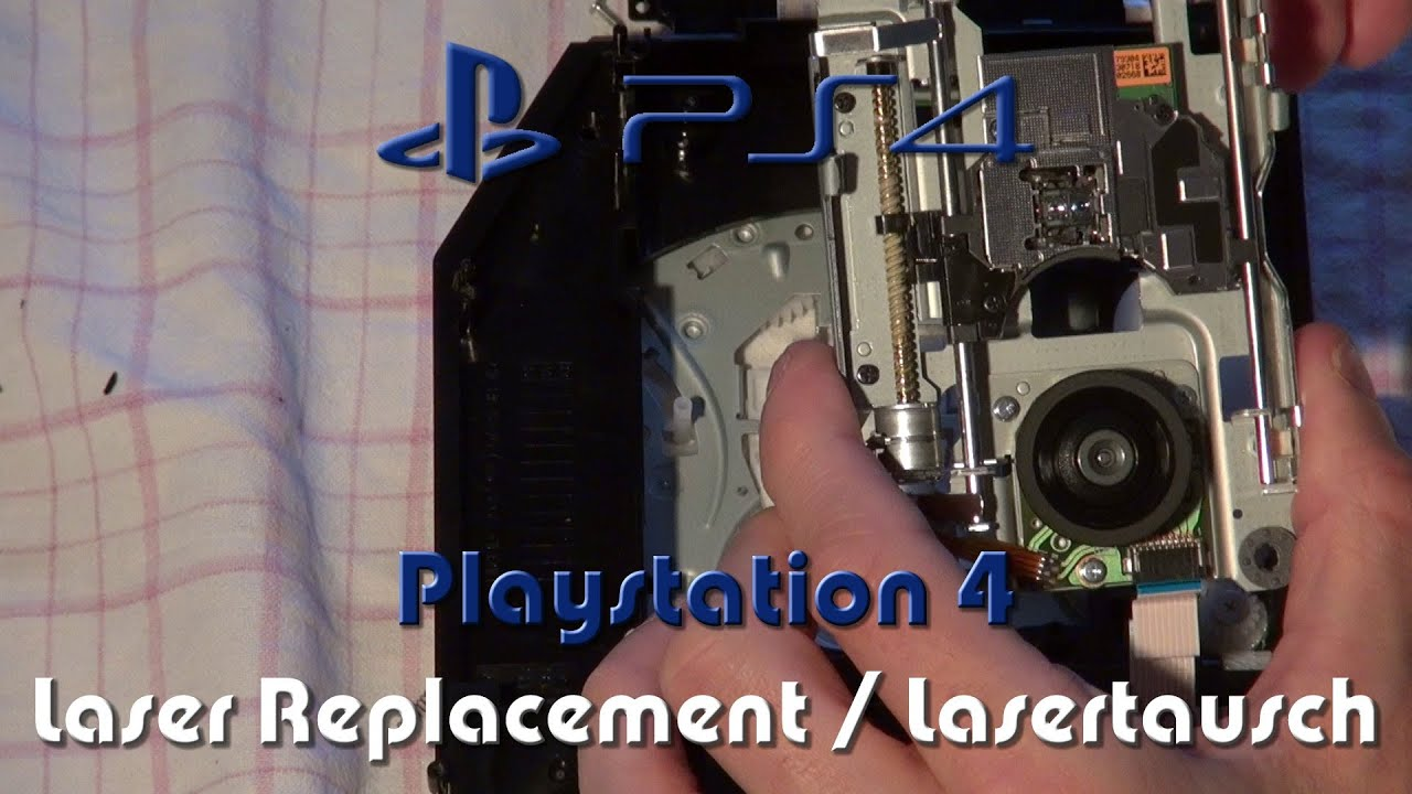 Playstation 4 (PS4) - Laser Replacement [English Subtitles] / Laser-Tausch  - Full HD