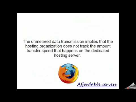 Unmetered dedicated server is great option for business