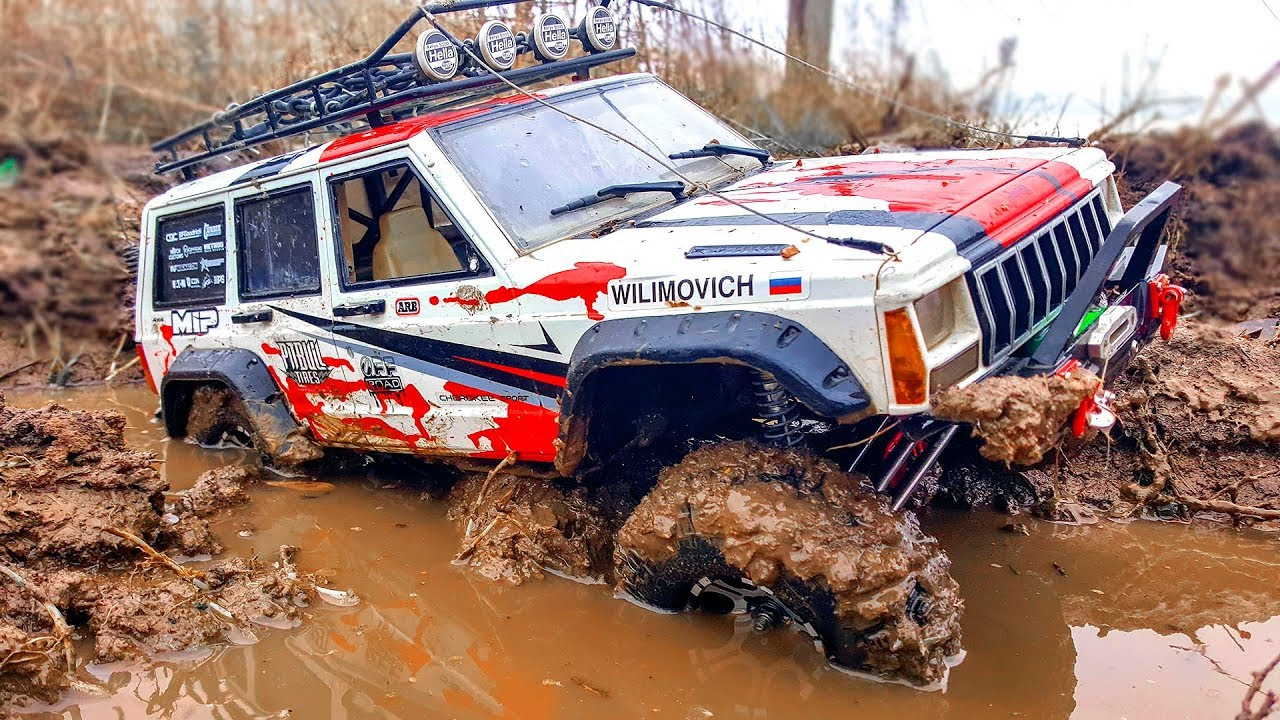Car Racing 4x4 Sands Storm and MUD Action – Axial SCX10 II Jeep Cherokee | Wilimovich