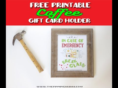 Easy DIY Gift Card Holder + Free Printable