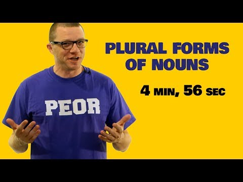 Plural Forms Of Spanish Nouns