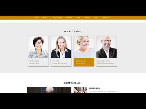 Example of a Lawyer Office Website