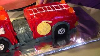 Zach&#39s 1st Birthday-Making the Birthday Fire Truck Cake