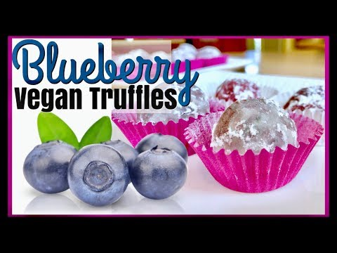 VEGAN White Chocolate Blueberry TRUFFLES | Purple Dessert Ideas | Dairy Gluten Free