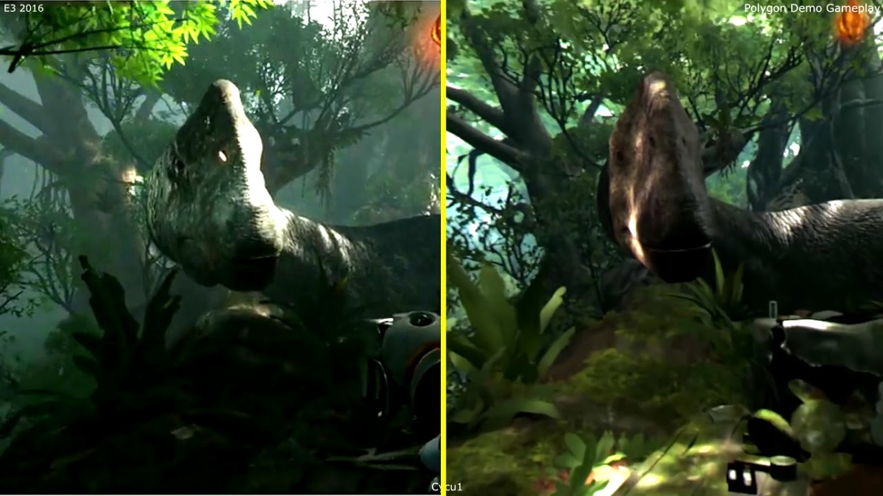 Robinson The Journey PSVR E3 2015 vs 2016 Polygon's Demo Early Graphics  Comparison