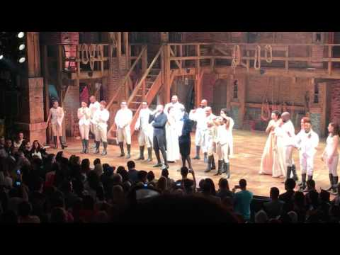 Hamilton on Broadway raises $15k for charity in after show auction! 🙏🏻😍