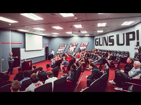 Texas Tech Football: Head Coach Matt Wells First Team Meeting | 2018