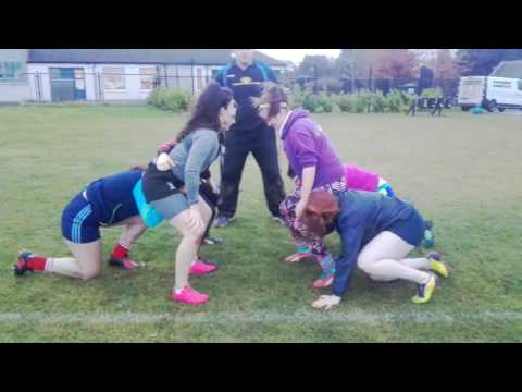DCU Women 3 v 3 improved technique THE SCRUM DOCTOR rugby 11