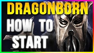 Skyrim Special Edition: How to Start DRAGONBORN DLC (Remastered Gameplay Walkthrough)