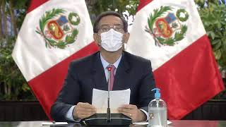 Presidente Vizcarra llama a la unidad de los peruanos tras juramentar al Premier Walter Martos