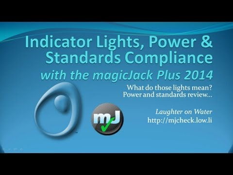Power, Indicator Lights, Phone Standards Compliance issues, magicJack plus 2014